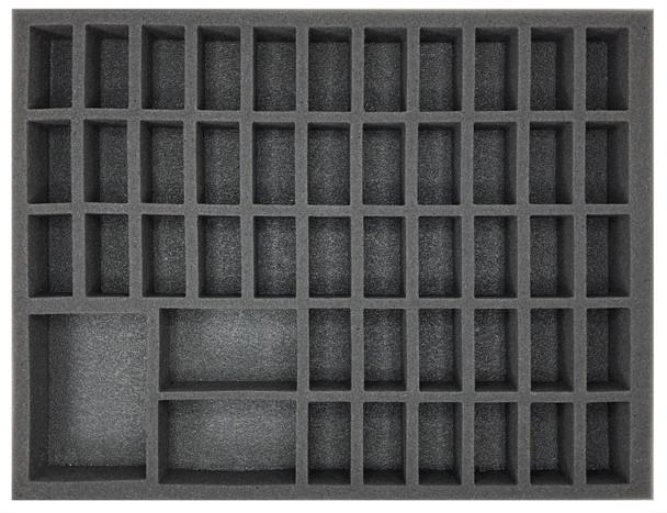 (Bretonnia) 45 Men at Arms 3 Command Foam Tray (BFL-1.5)
