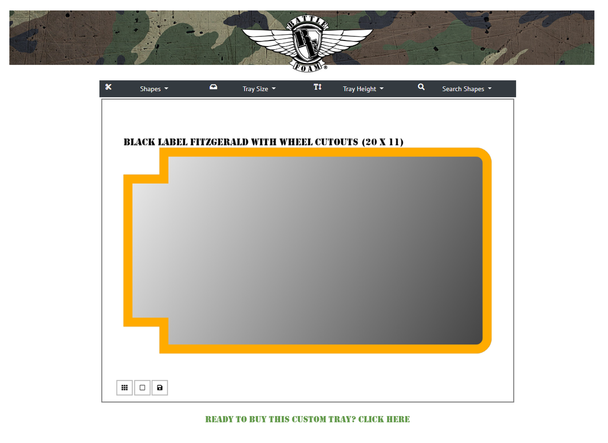 (Custom) Custom Fitzgerald Black Label Foam Tray (FT)