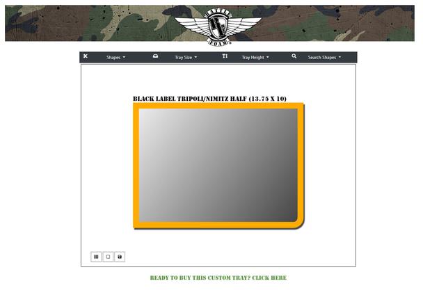 (Custom) Custom Tripoli/Nimitz Black Label Half Foam Tray (TN.5)