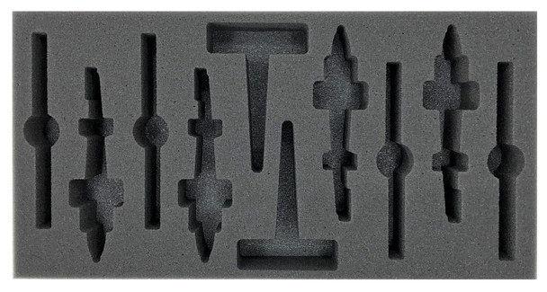(Team Yankee) Flames of War US AH-1 Cobra Attack Helicopter Foam Tray (BFM-2)
