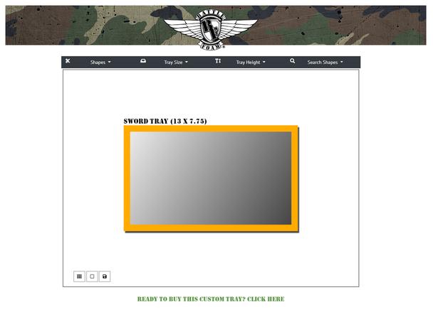 (Custom) Custom Foam Tray for the Sword Bag (SD)