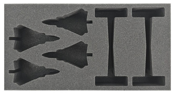 (Team Yankee) Flames of War German Tornados Foam Tray (BFM-2)