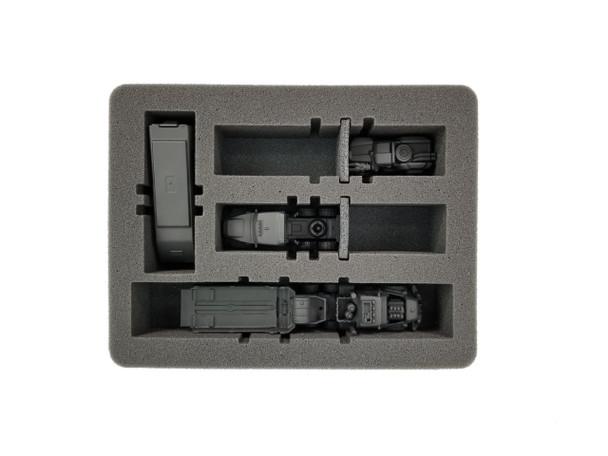 Gaslands 4 Medium Vehicle Modular Slots Foam Tray (SR-2)