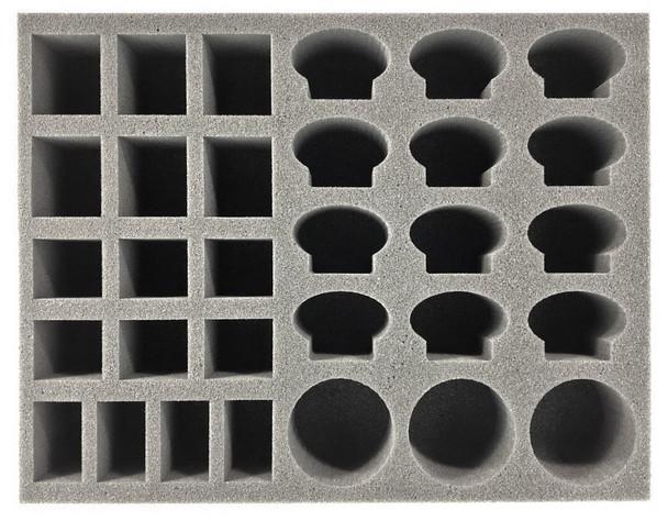(Genestealer Cults) 3 Atalan Jackals and Various Troop Foam Tray (BFL-2.5)