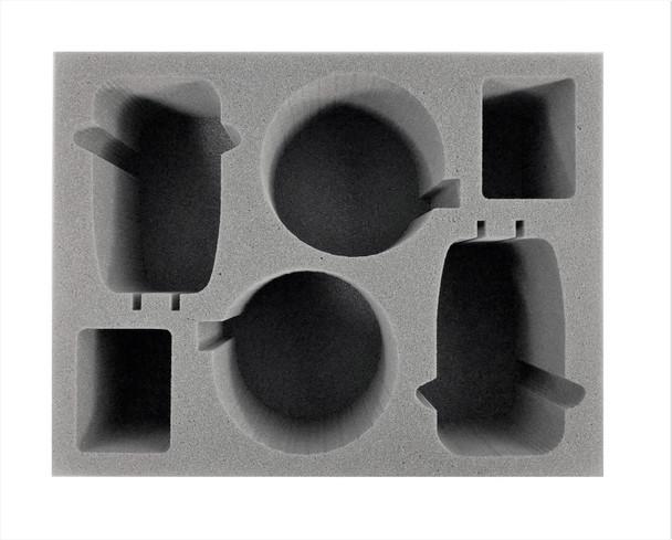 (Adeptus Mechanicus) 2 Skorpius Disintegrator/Dunerider 2 Dunecrawler Foam Tray (BFL-4.5)