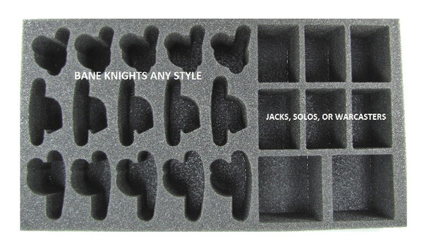 (Cryx) Cryx Bane Knights Troop Foam Tray (PP-2.5)