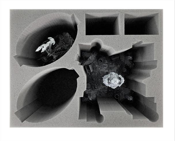 Age of Sigmar Ossiarch Bonereapers Bone-Tithe Nexus and Standing Mortek Crawlers Foam Tray (BFL-8)