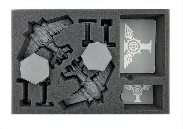 (Aeronautica Imperialis) Grot Bommers Foam Tray with Flight Stems Glued to Base Foam Tray (BFS-1.5)