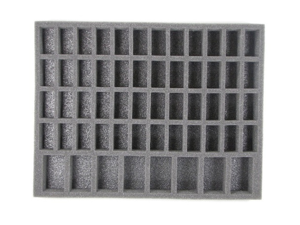 This kit comes with one Chaos Daemon Troop tray 1 inch thick and one 1.5 inch thick.