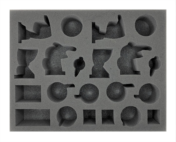 (Necron) 6 Ophydian Destroyer 6 Skorpekh Destroyer 2 Hexmark Destroyer Foam Tray (BFL-2.5)