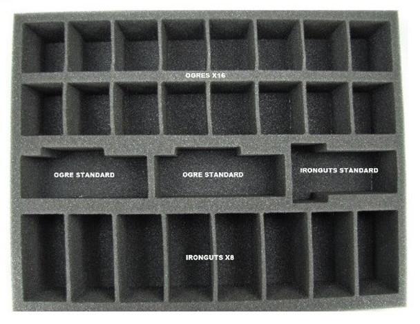 Ogre Kingdom Core Troop Foam Tray (BFL-2.5)