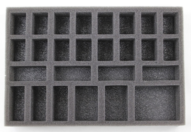 This foam kit comes with 2x 1 inch thick, 2x 1.5 inch thick and 1x 2 inch thick of the Infinity Universal Troop Foam Tray.