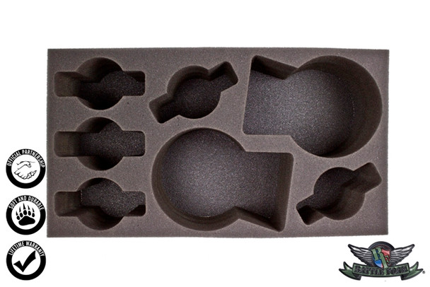 (Warrior Nation) 2 Great Elk 5 Energy Beast Foam Tray (WWX-4)