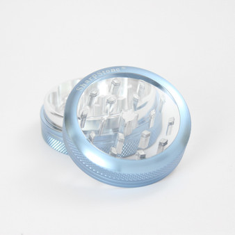 "SharpStone® Clear Top 2 Piece Grinder - 2.2"" Blue"