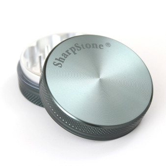 "SharpStone® Hard Top 2 Piece Herb Grinder - 2.2"" Grey"