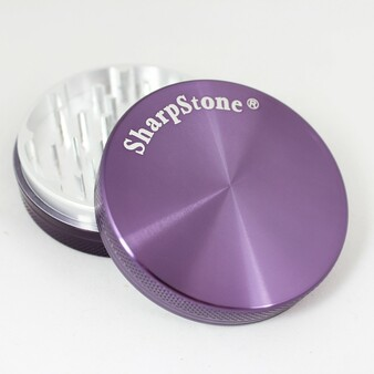 "Large SharpStone® Hard Top 2 Piece Grinder - 2.5"" Purple"