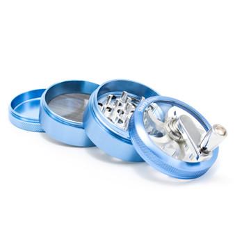 """SharpStone® Clear Top Hand Crank 4 Piece Grinder - 2.5"""""""