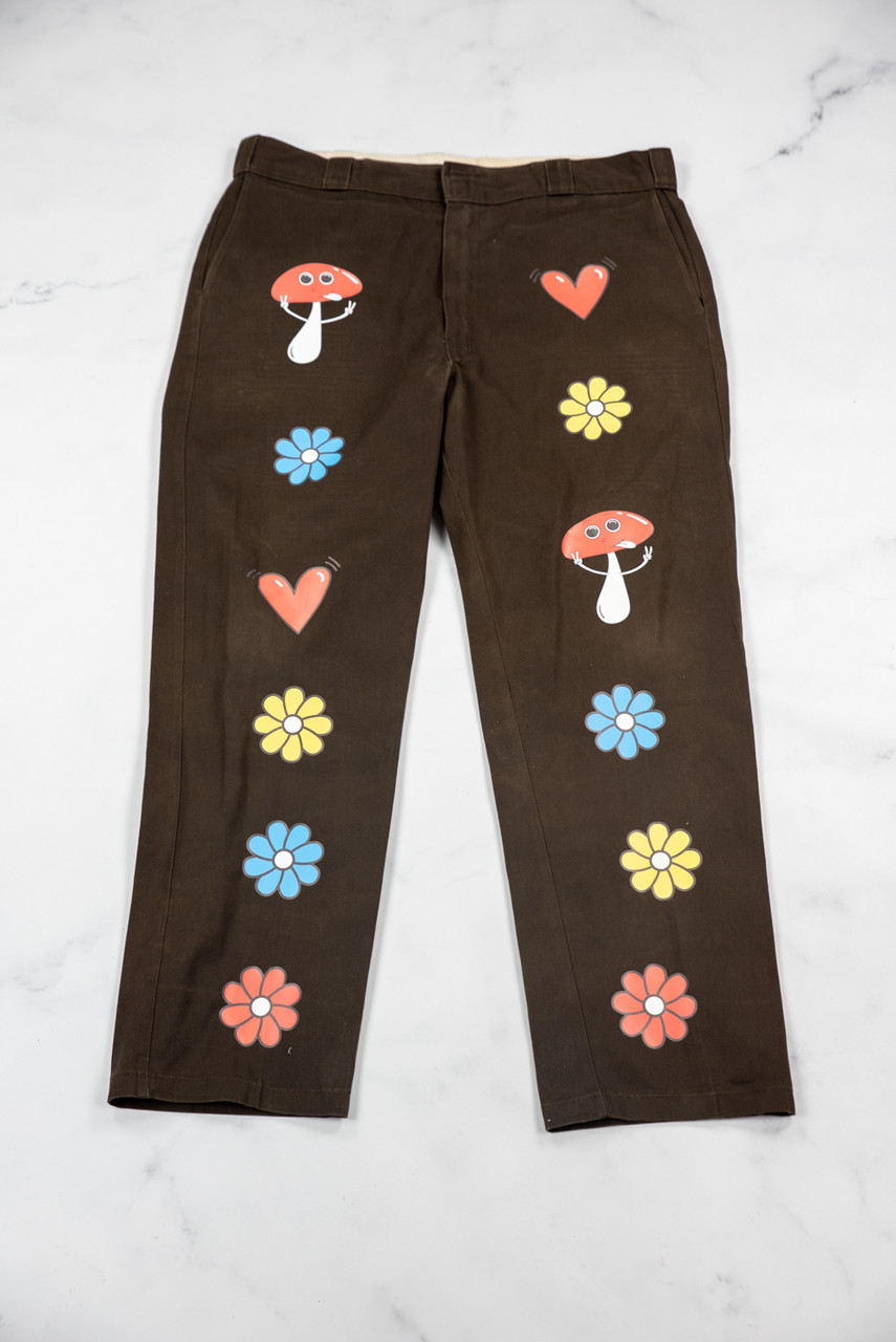 Reworked Vintage Dickies Brown Shroom Trousers