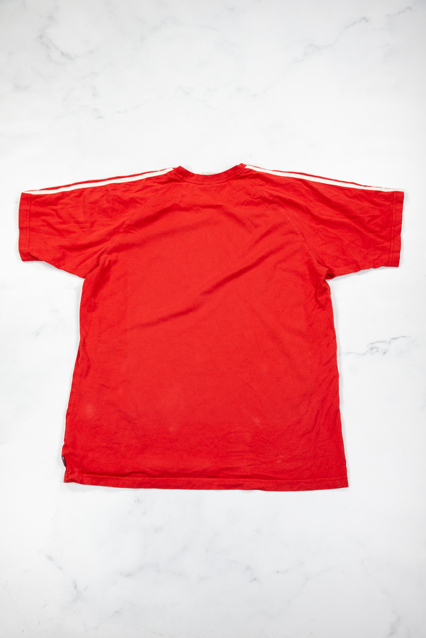 Reworked Vintage Red Adidas T-shirt