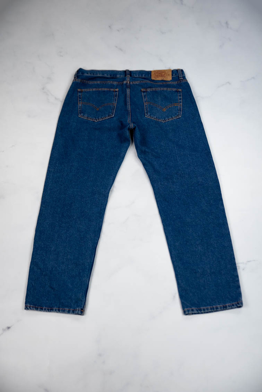 Reworked Vintage Levis With Dragon Embroidery