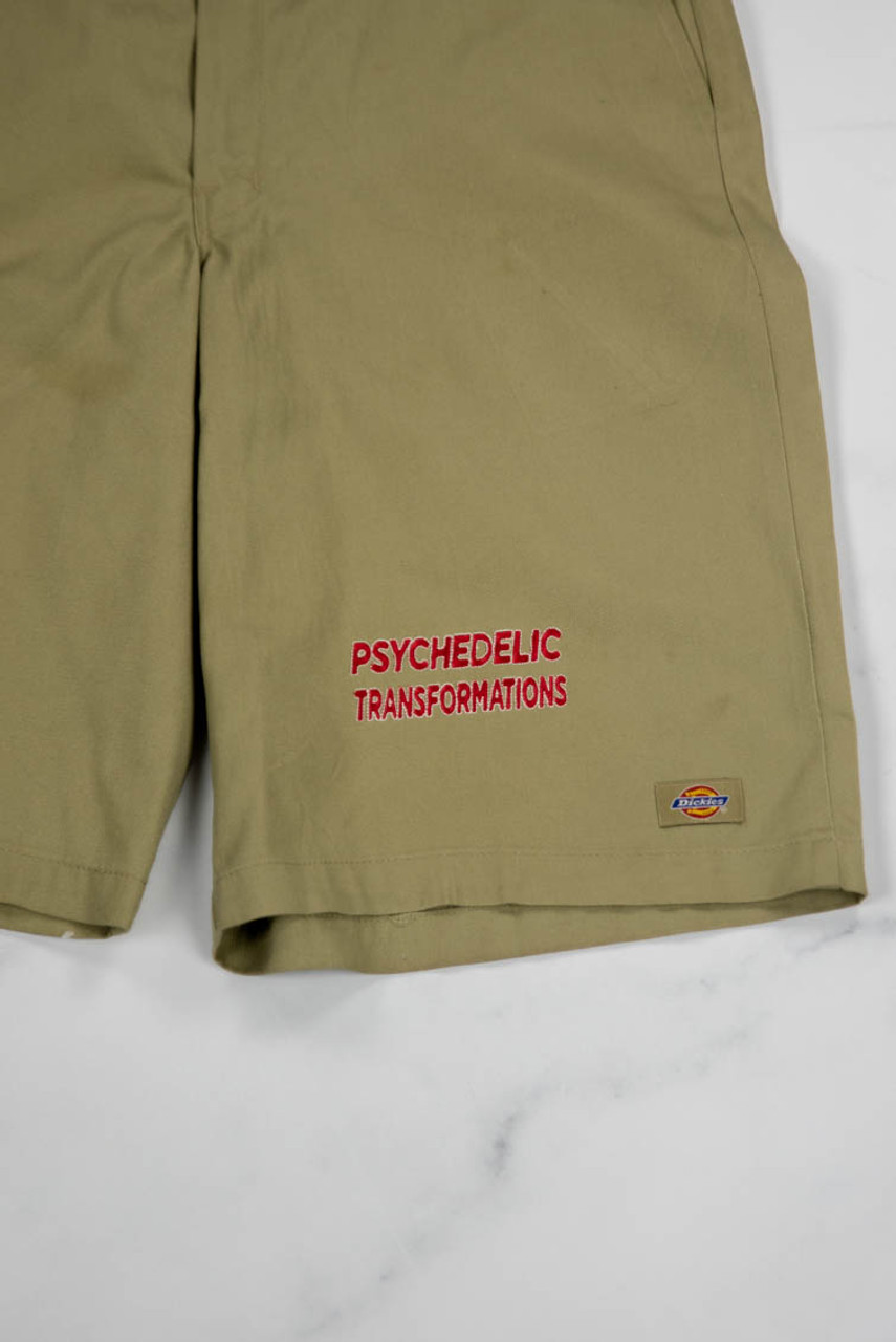 Reworked Vintage Dickies Shorts with Psychedelic Transformations