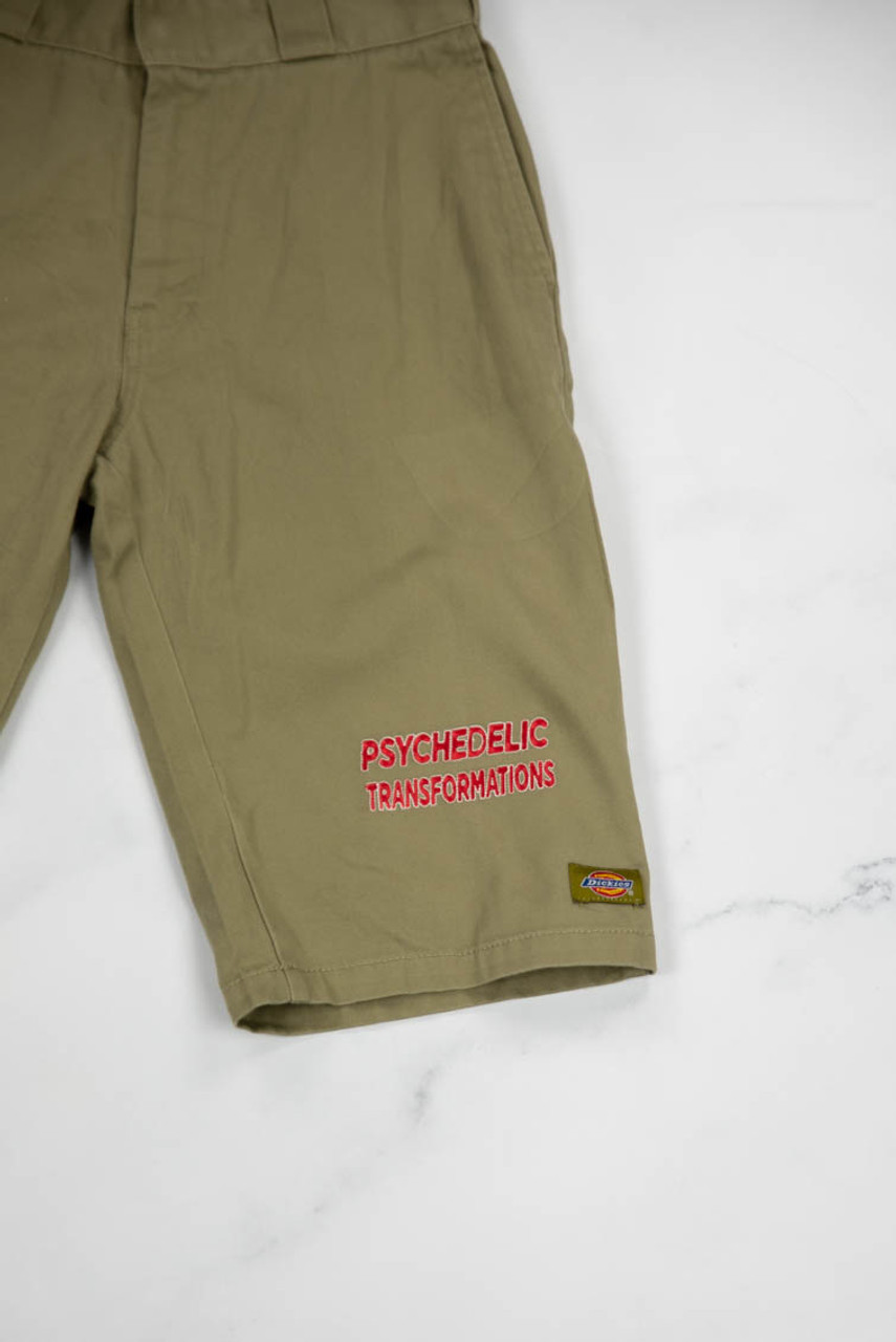 Reworked Vintage Dickies Shorts with Psychedelic Embroidery