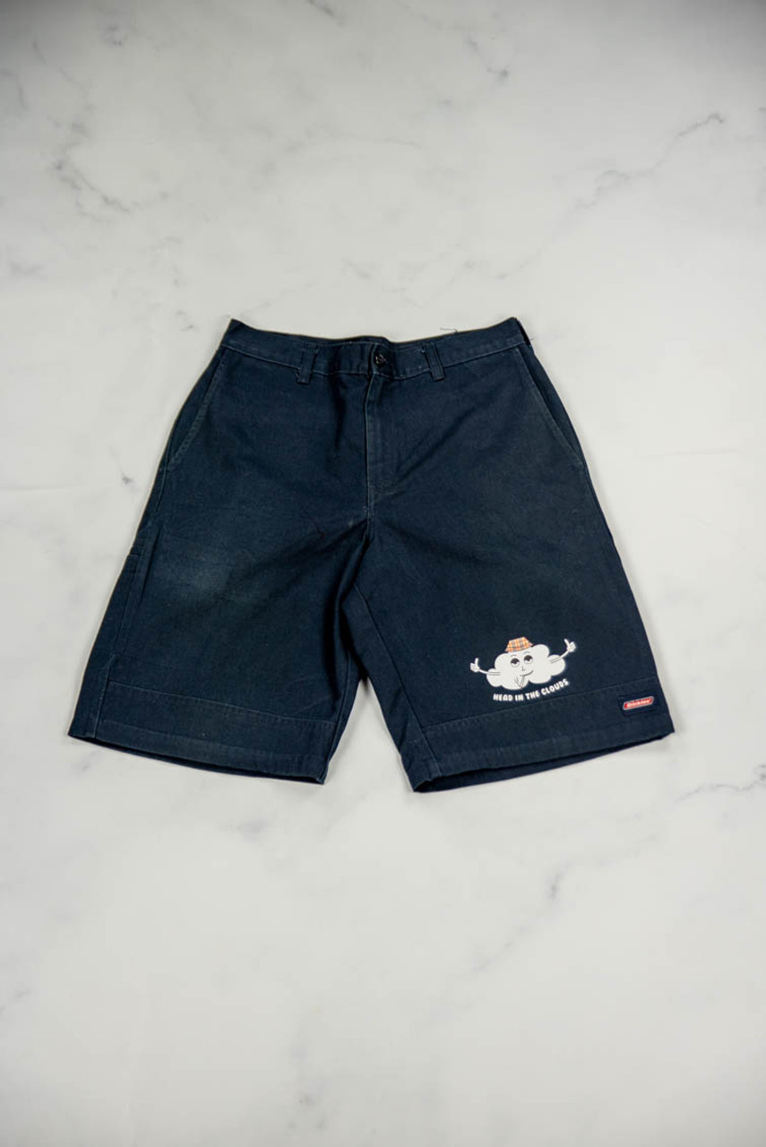 Reworked Vintage Dickies Shorts with Head in the Clouds Print