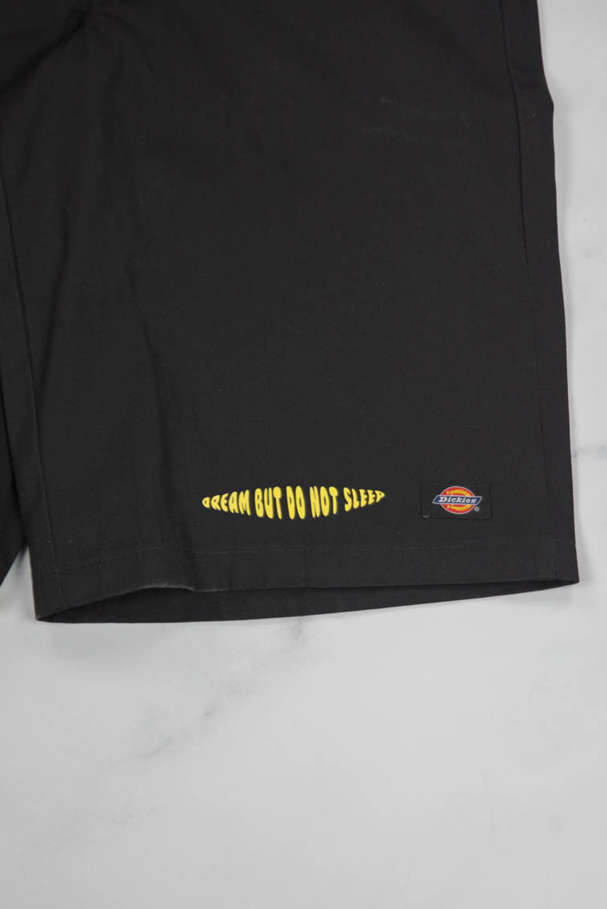 Reworked Vintage Dickies Shorts with Yellow Logo