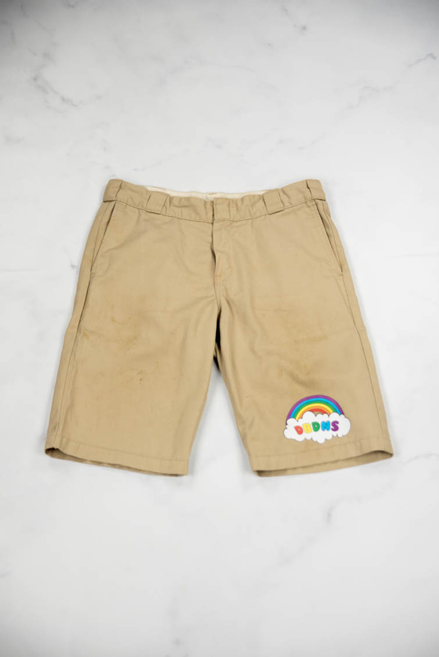 Reworked Vintage Dickies Shorts with Rainbow Logo