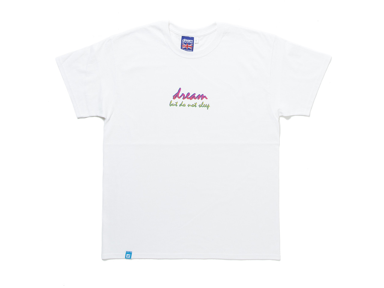 90s Logo Design On White Short Sleeved T-shirt