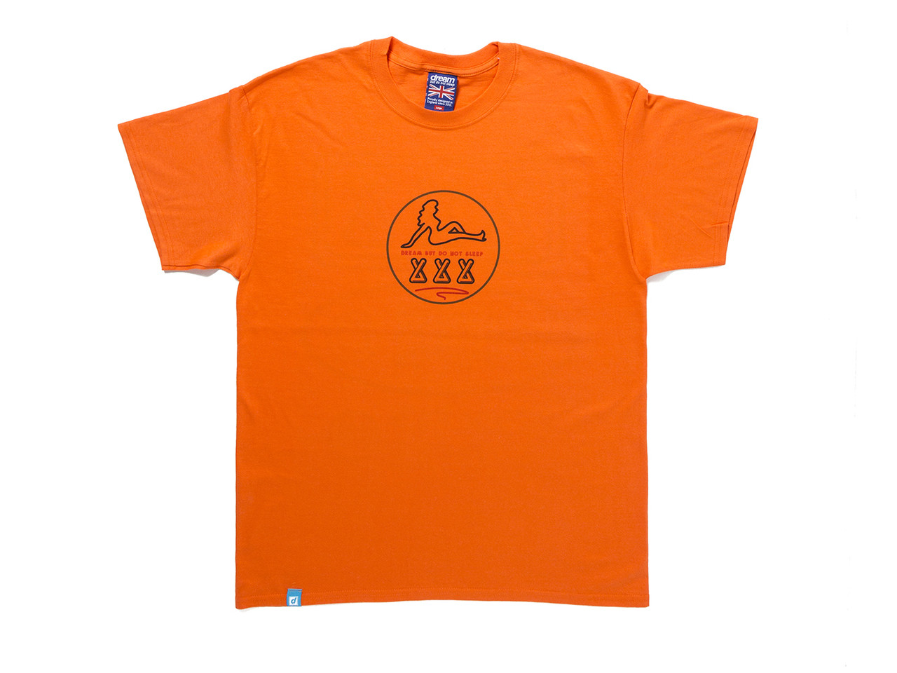 Adults Only' Design On Orange Short Sleeved T-shirt
