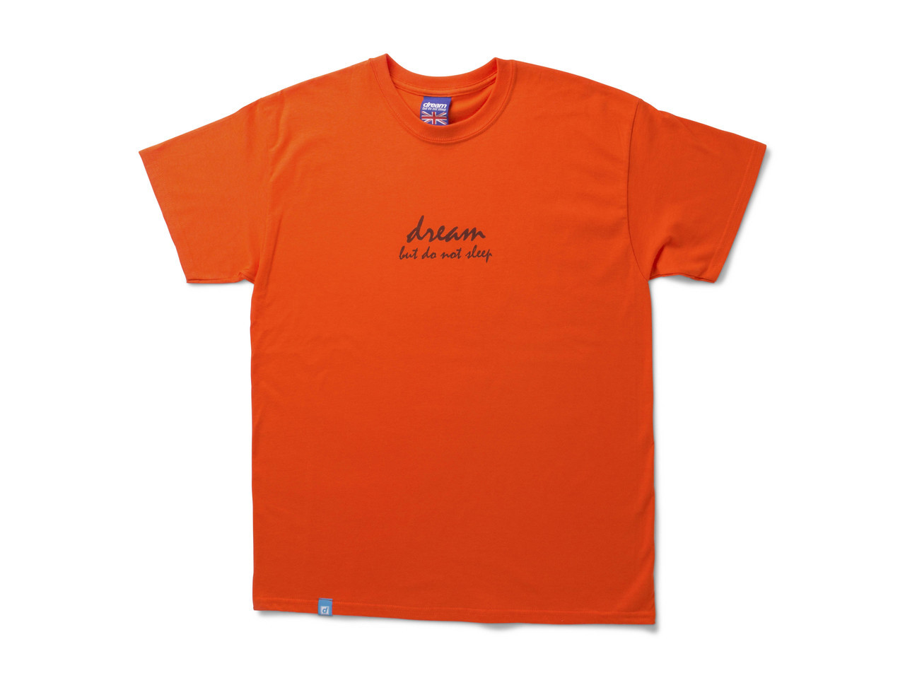 Orange Short Sleeved T-shirt With 90's Logo Design
