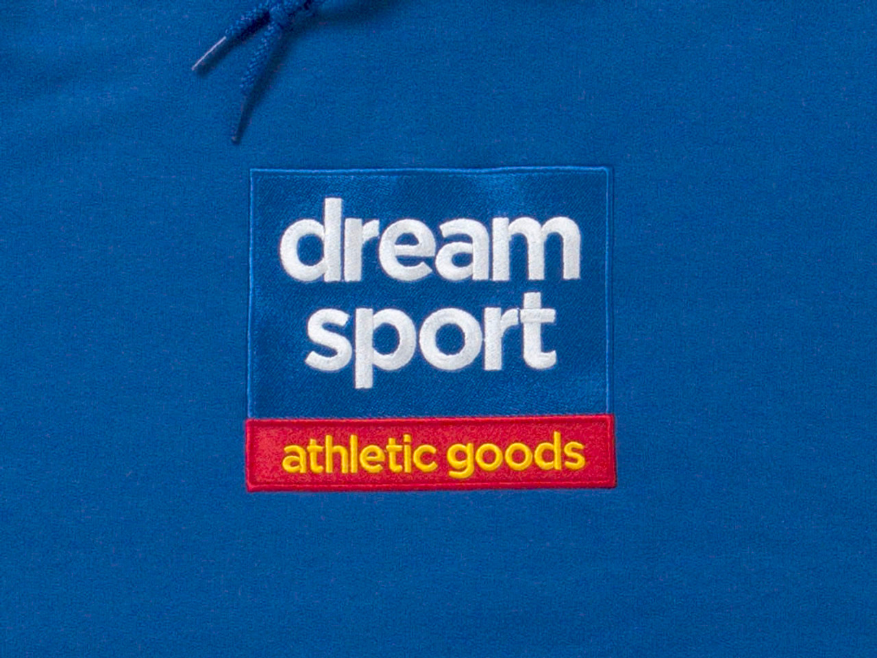 Royal Blue Hoodie With Dream Sport Athletic Goods Design