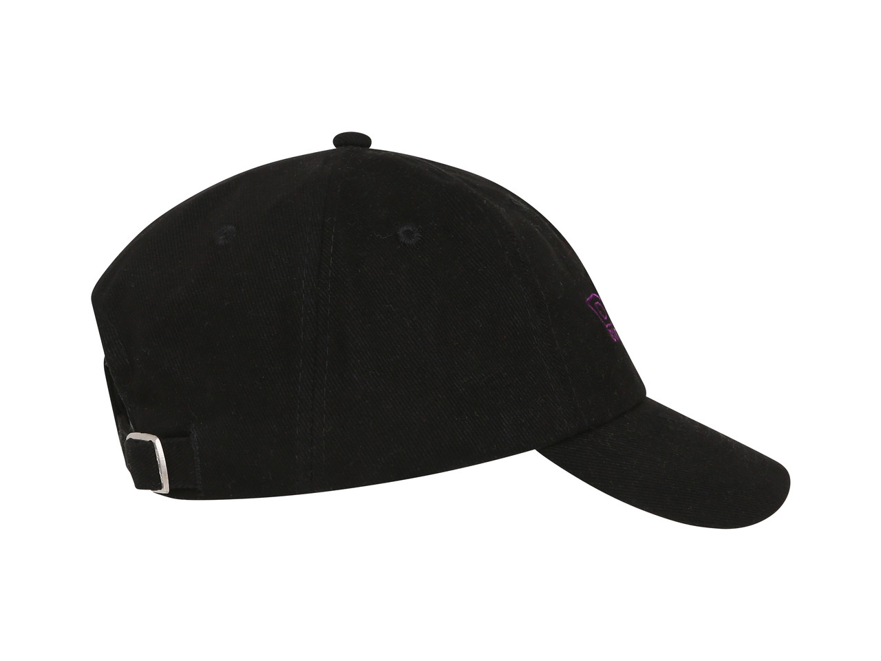 Black Cap With Violet Dream Embroidery
