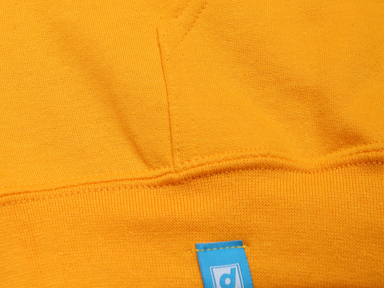 Gold Hoodie with DBDNS Lo-fi Photocopy Graphic