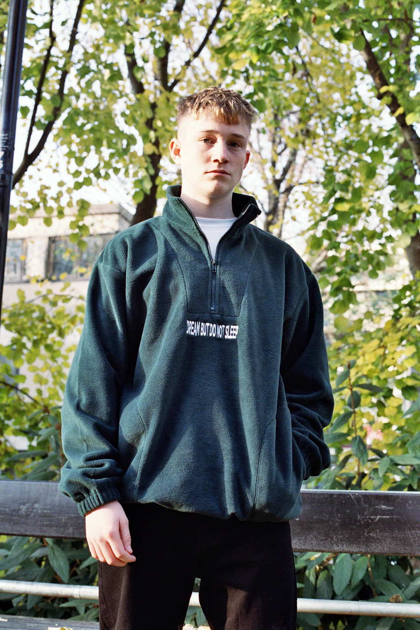 Forest Green Fleece With Dream But Do Not Sleep Embroidered Design