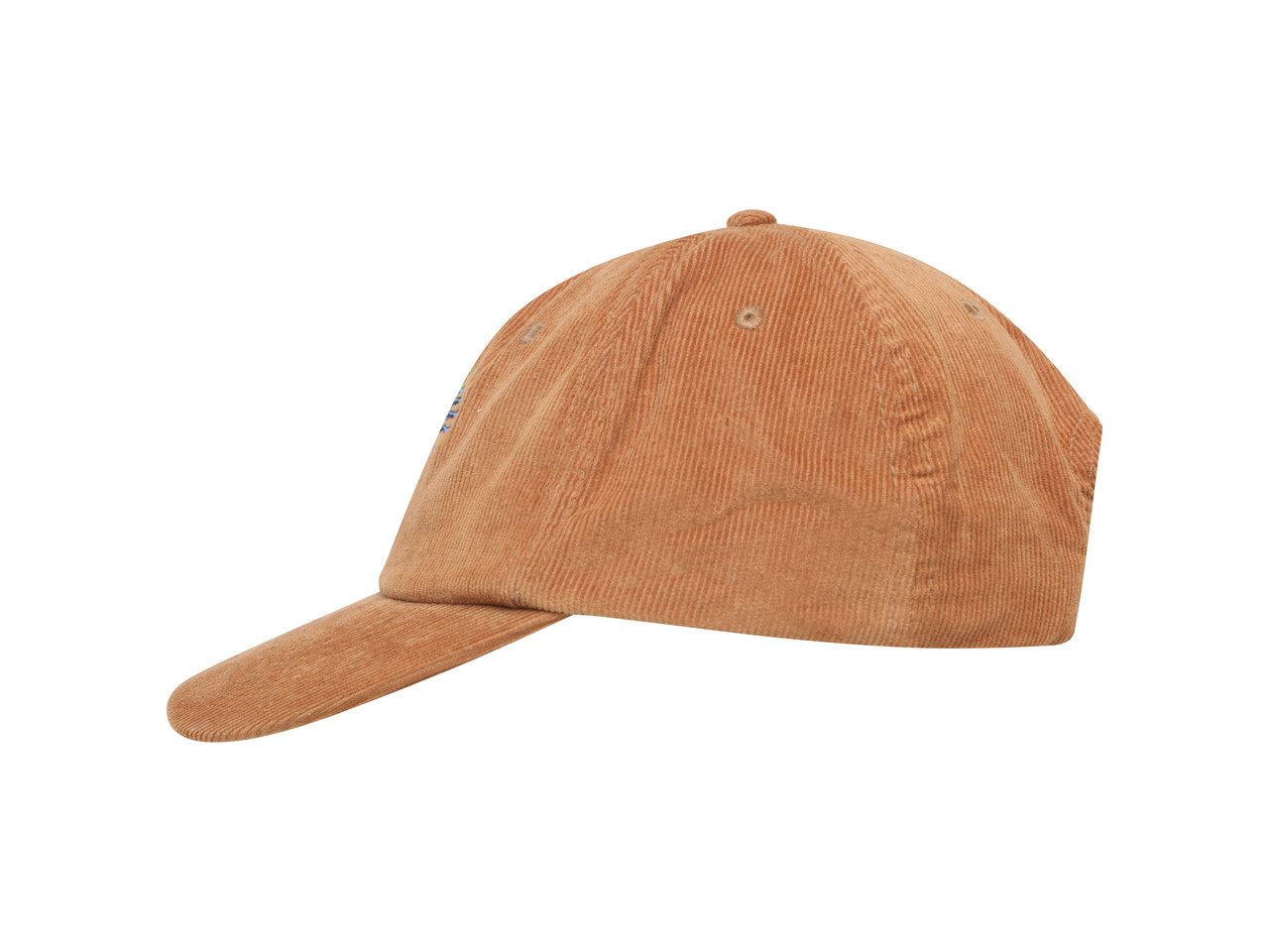 Camel Corduroy Cap With Chinese Dragon Embroidered Design