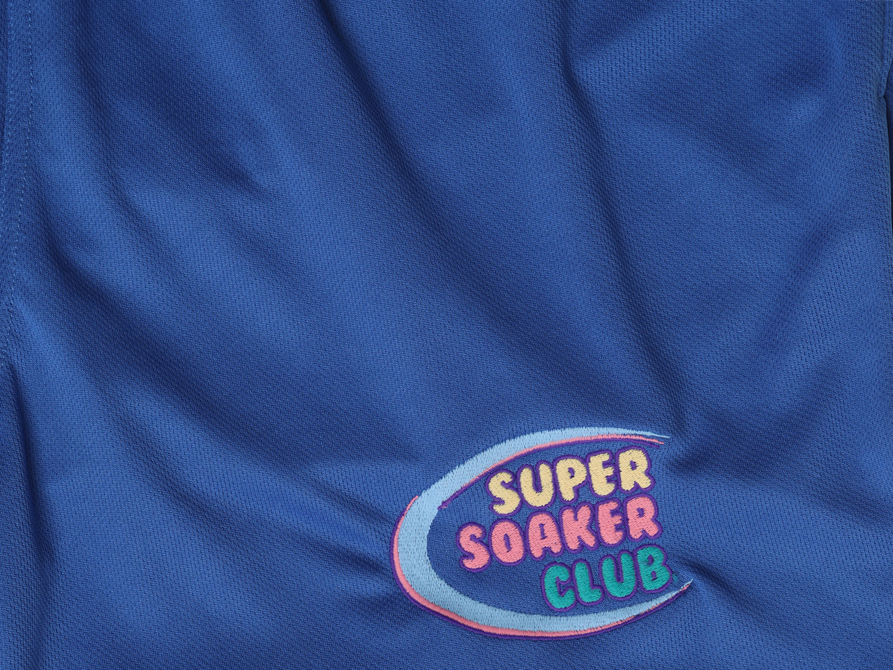 Blue Shorts With Super Soaker Embroidery