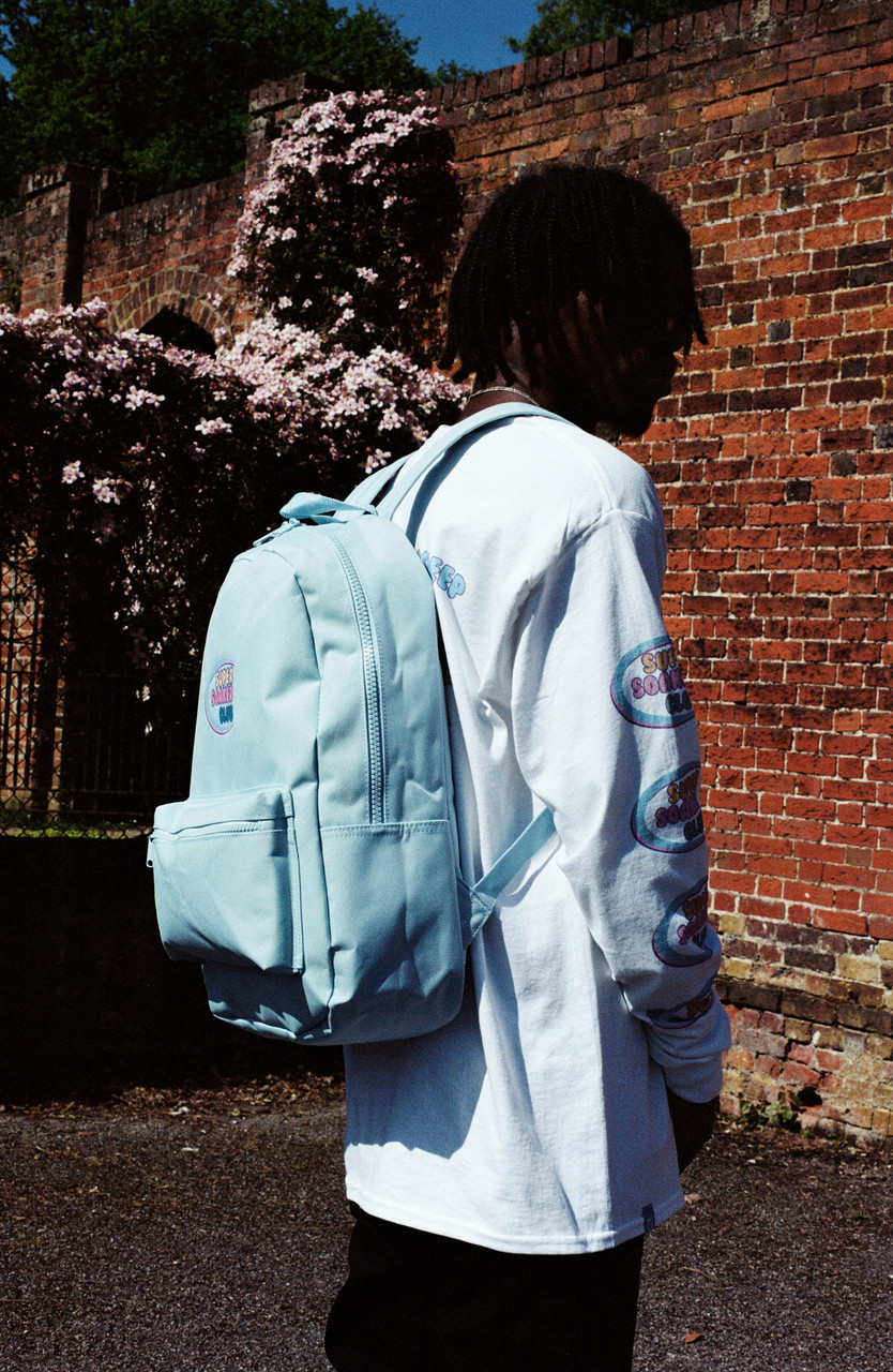 Blue Backpack With Super Soaker Embroidery