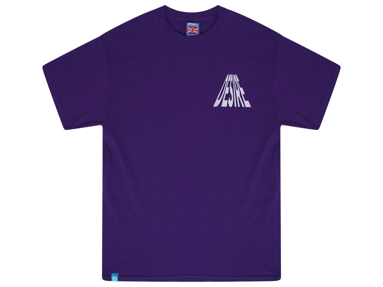 Purple Short Sleeved T-shirt With Desire Print