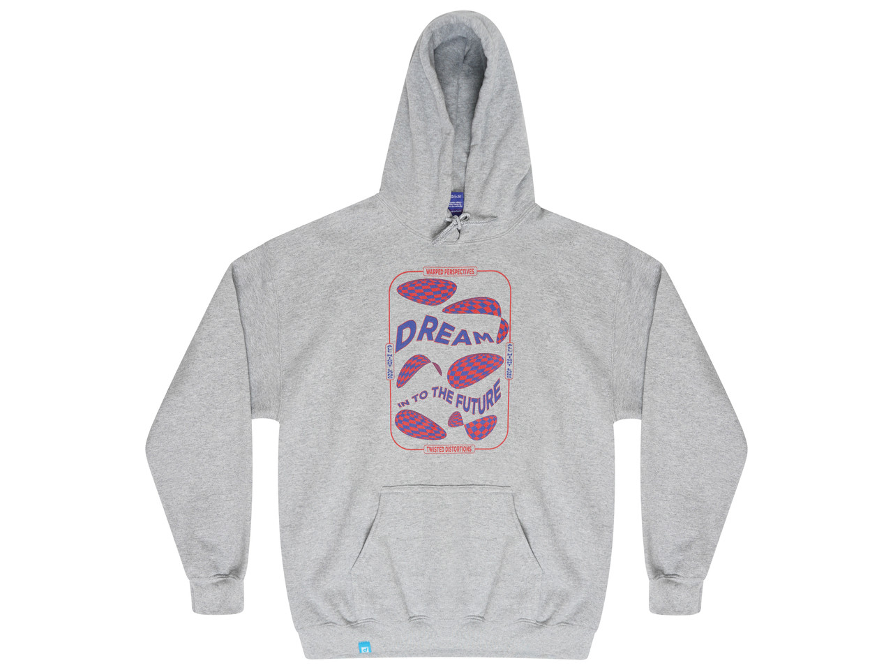 Grey Hoodie With Dream Into The Future Print