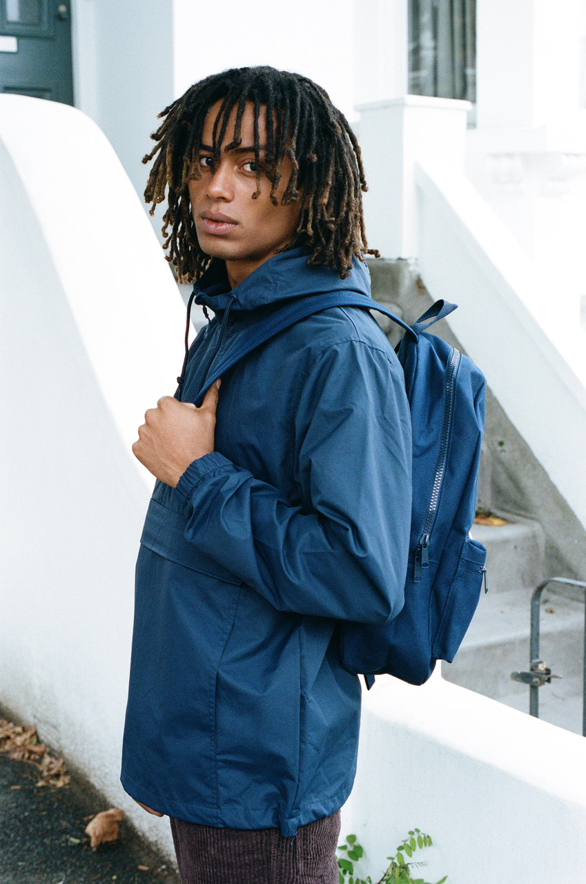 Navy Backpack With Dream Into The Future Embroidery