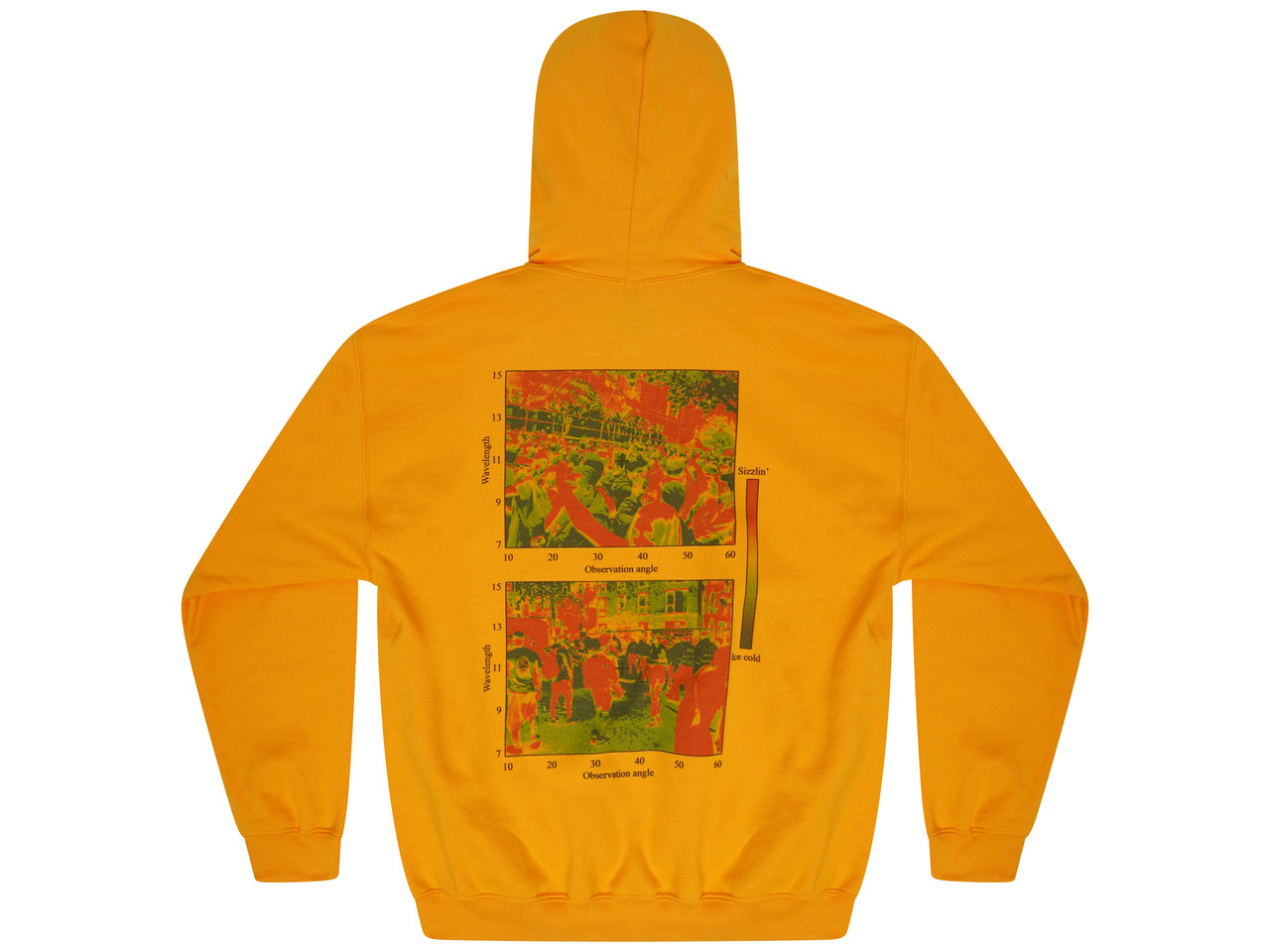 Gold Hoodie With Dream In Infrared Print