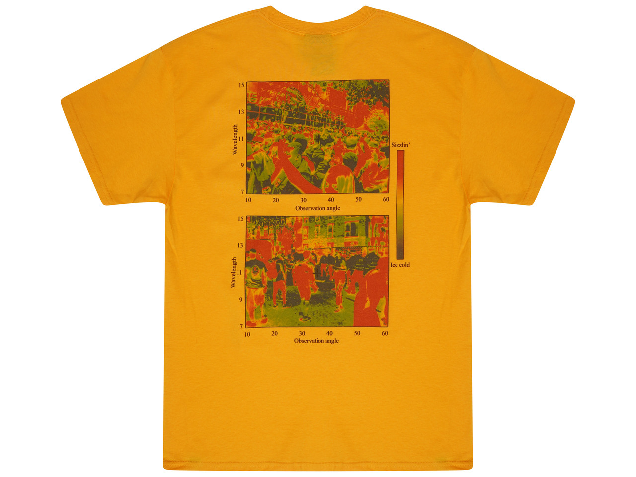 Short Sleeved T-shirt Gold With Dream In Infrared Print