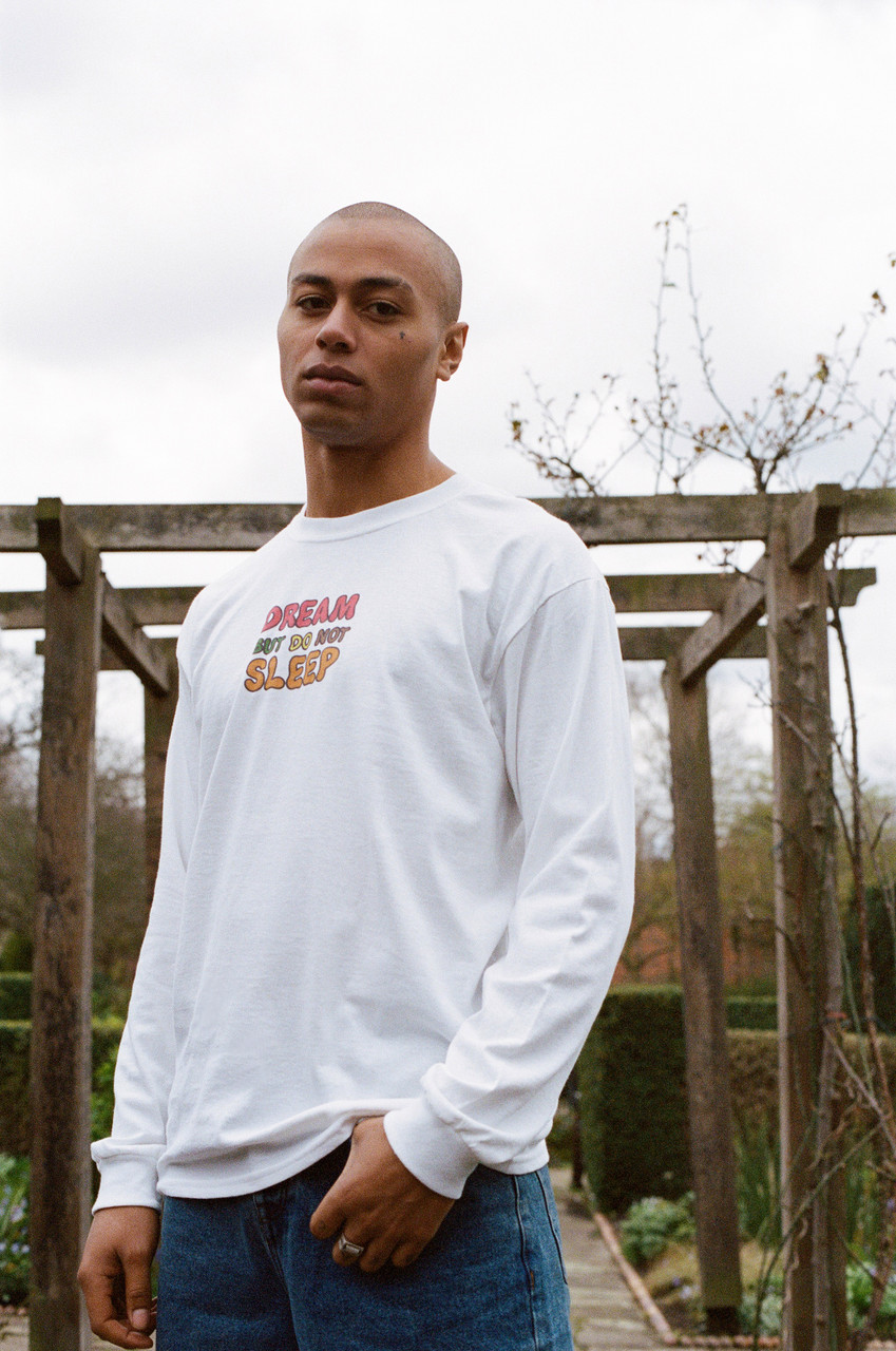 Long Sleeved T-shirt In White With Fruity Ravers Print