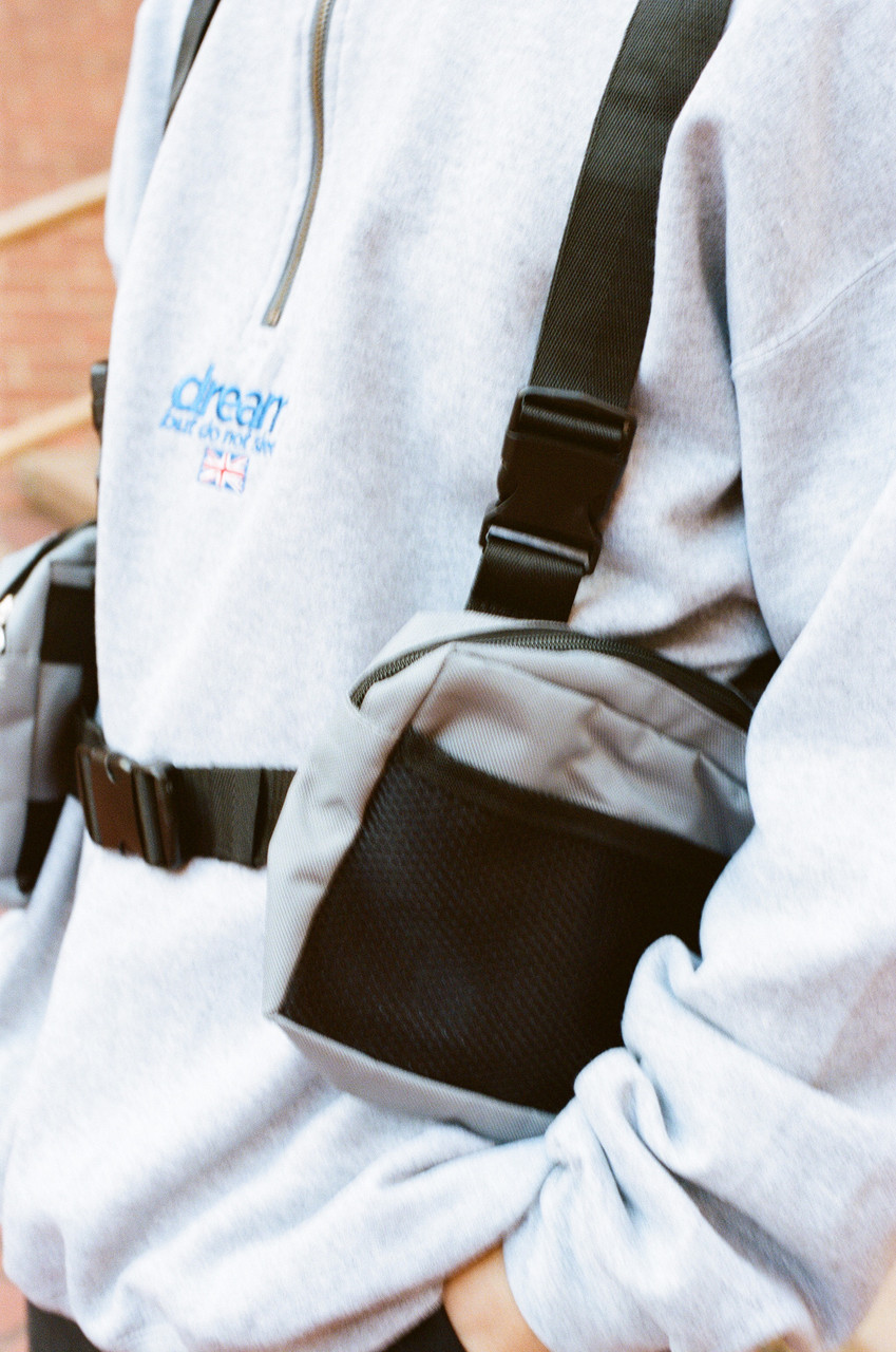 Grey Body Harness Bag with DBDNS Embroidery