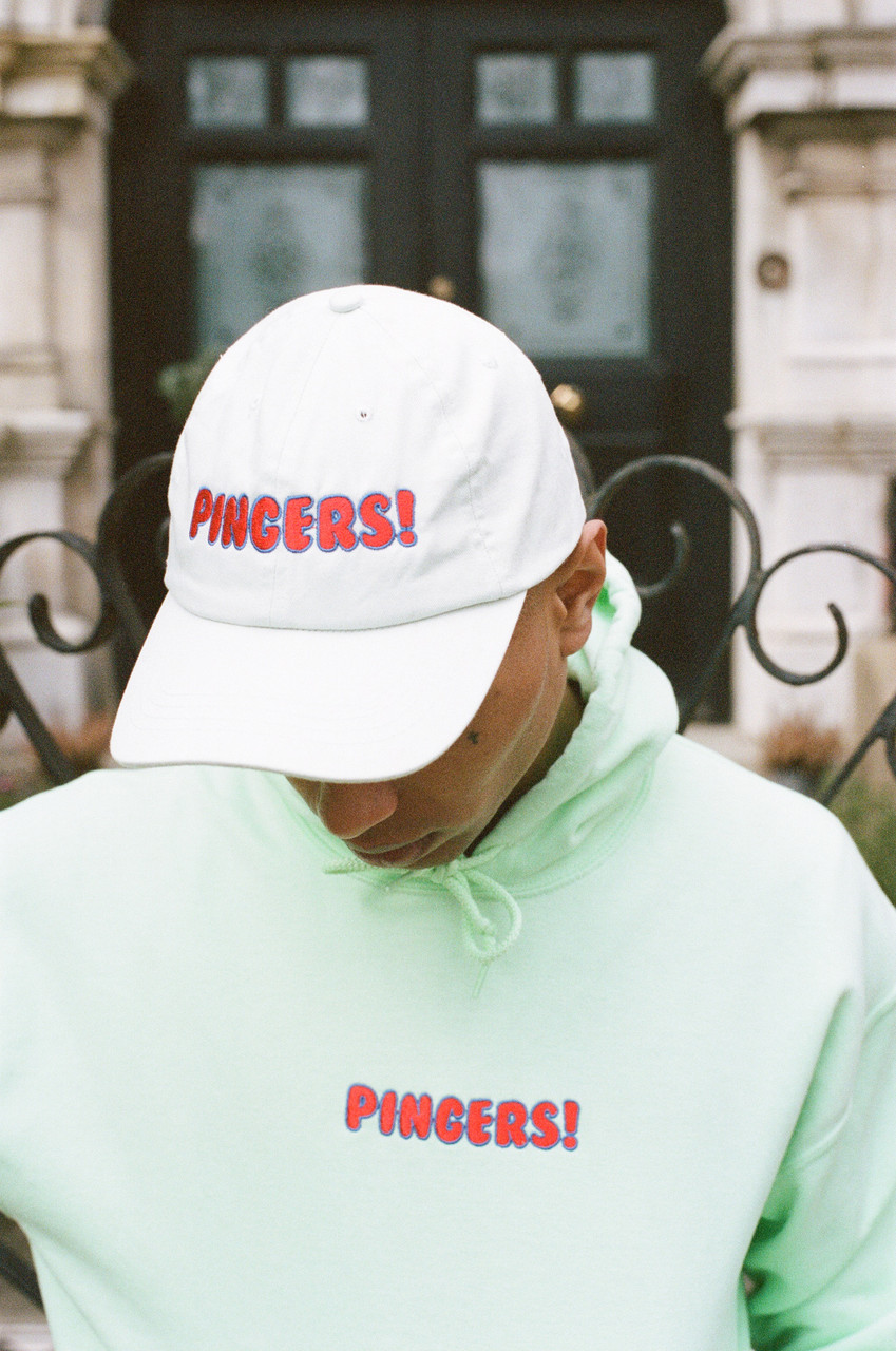 Cap In Mint Green With Pingers Embroidery