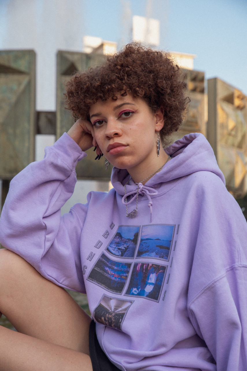Hoodie in Lilac with Croatian Festival Photo Print