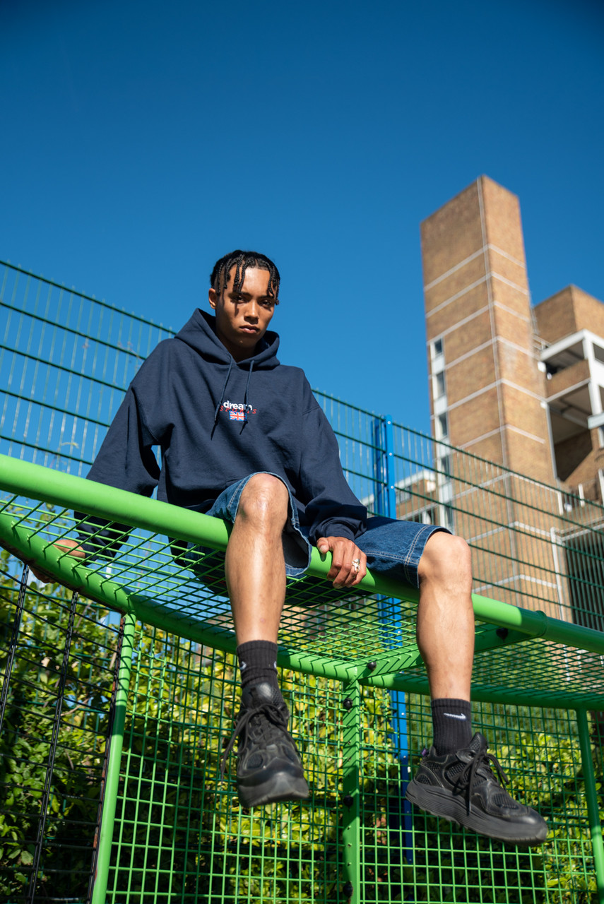 Hoodie in Navy with Dream Sports Logo Embroidery