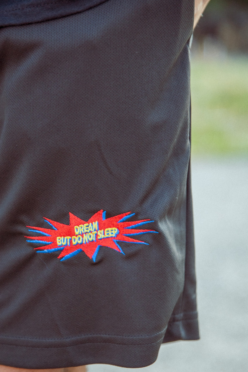 Black Shorts With POW! Embroidered Logo